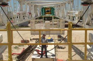 Mr. Salhi at Rig Derick View June-2-2008