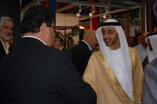 Abu Dhabi Crown Prince Ahmad Bin Zaid & C.E.O Mr. Sfeir