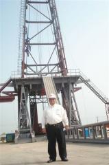 Mr. Sfeir at Rig Site