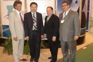 Mr. Sfeir and Chairman of Highland and Director the Louisiana Goverment at OTC 2009