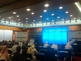 George M. Sfeir at Offshore Middle East 2013 Conference in Doha, Qatar giving deep drilling technology lecture