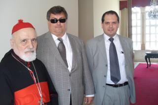 Cardinal Boutros Sfeir, George M. Sfeir and Fouad ElHaj Attorney for ENGT