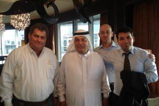 Picture taken in Dubai The Address Hotel with George M. Sfeir, ENGT C.E.O., Mohammed Al-Share & Emirates NDB Bank Executives