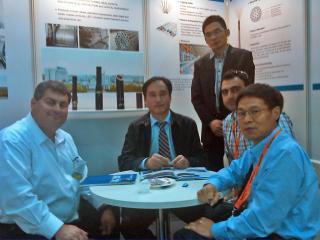 George Sfeir; Xingjun Shang, CEO of Baoshida; Interpreter of Baoshida; Joseph Jacoub; Frank Wang