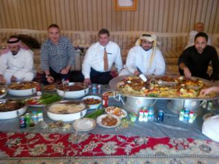 L to R: (Security) Mr. Assem El-Sheikh (business) advisor, George M. Sfeir engt ceo, His royal Highness Sheik Jassem, Mr. Masoud Zohbi Business Development