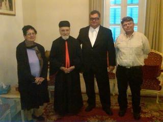 Odette Sfeir, Cardinal Sfeir, George M. Sfeir & Etienne R. Karam